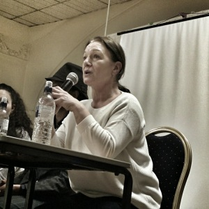 Carole Duggan speaking in Brixton last night as part of the Ferguson Solidarity Tour